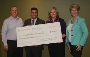 Pictured left to right: Andrew Mosier, CHS president-elect; Daryn Kumar, Memorial Medical Center CEO; Cindy Duenas, CHS executive director; Monica Majors, Sutter Health Plus vice president of sales and marketing