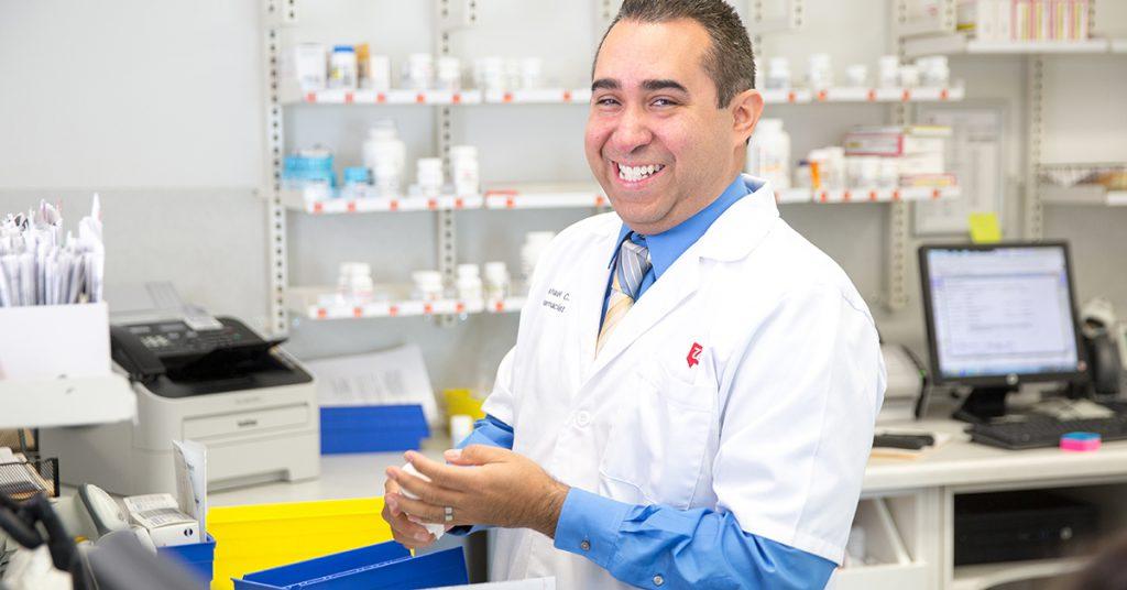 Walgreens pharmacist Mike Cuellar photographed Tuesday, Feburary 28, 2017 in Sacramento.